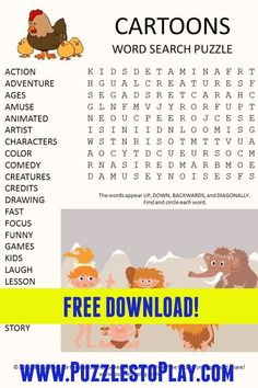 Free Word Search Puzzles, Free Printable Word Searches, Printable Puzzles For Kids, Free Printable Worksheets, Free Printable Coloring Pages, Worksheets For Kids, Free Printables, Kids Laughing, Puzzle Books