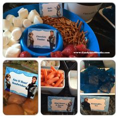 FREE PRINTABLE - Frozen Birthday Party Food Table Tents. Blanks included so you can name your own foods!