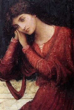 When Sorrow Comes to Summer by John Melhuish Strudwick