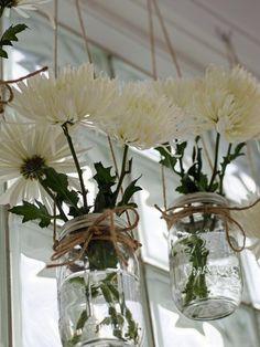 Hanging Mason Jars - 18 Clever Window Treatment Ideas Under $18 on HGTV
