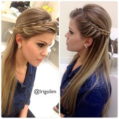 To know more about cool and classy easy hairstyles for straight hair, look into the gallery and be lost in the large variegation of trendy hairstyles for all hair length women. Trendy Hairstyles, Straight Hairstyles, Girl Hairstyles, Braided Hairstyles, Wedding Hairstyles, Hairstyles For The Office, Bridesmaid Hair, Prom Hair, Homecoming Hair