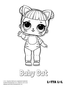 Baby Cat Coloring Page Lotta LOL