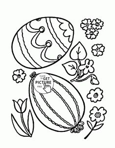 Two Easter Eggs Coloring Page For Kids Pages Printables Free