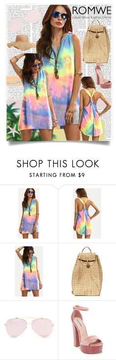 """""""ROMWE Multicolor Dress"""" by jspe8 ❤ liked on Polyvore featuring Steve Madden and Old Navy"""