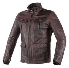 The Dainese Harrison jacket has four pockets and is made from vat dyed natural hide with a special wax finish. Its vintage look blends with safety features s...