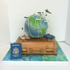 Luggage Traveling Grooms Cake