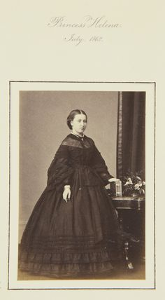 Princess Helena, July 1862 [in Portraits of Royal Children Vol.6 1862-1863]   Royal Collection Trust