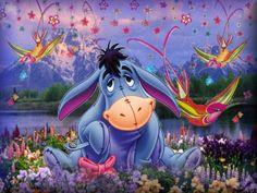 I love Eeyore. He is my favorite Winnie the Pooh character. Pooh Bear, Tigger, Eeyore Pictures, Cute Bibles, Cross Paintings, Disney Winnie The Pooh, Freundlich, Disney Art, Disney Poems