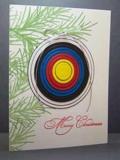 Archery Christmas Card I made this for my archery friends. Barb McHenry