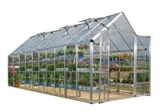 The Snap & Grow Silver Frame Hobby Greenhouse features the SmartLock connector system. Heavy duty aluminum frames assemble easily without a lot of hardware. Crystal-clear SnapGlas panels slide right i