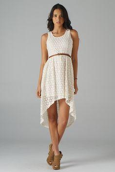 hi-lo lace dress.