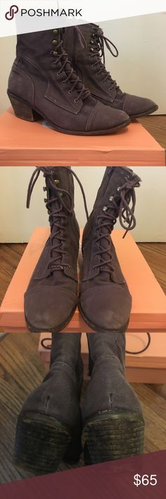 Jeffrey Campbell lace up canvas boots Preloved, but match the look and style! Ask any questions Jeffrey Campbell Shoes Lace Up Boots