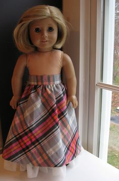 A Doll for all Seasons Holiday Skirt recycle pattern/instructions