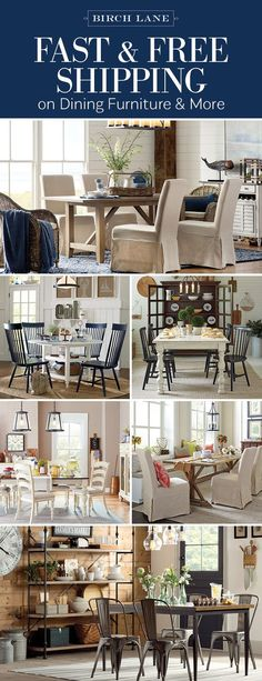 The dining room just might be the most important space in the house. It's the room that sees holiday meals and Sunday dinners; it watches families grow and hears some of the best conversations. From lighting to tables, Birch Lane has the styles to suit any dining room occasion and the best part: everything over $49 ships free! Sign up at Birchlane.com and enjoy exclusive deals on classic styles.