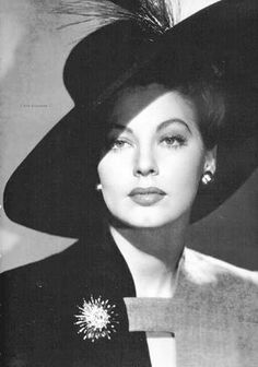 Ava Gardner. Fun fact, Ava Gardner is related to my father!