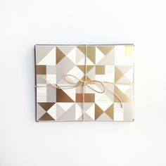Image of Geometric Pattern Card in Gold, Boxed Set