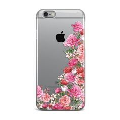 Garden Roses clear tpu case available for iphone 5/5s/5se iphone 6/6s, iphone 6/6s plus and all samsung devices