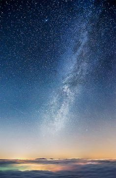 Islands under the stars- would love to go anywhere the skies are dark enough to see the sky like this.