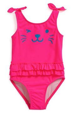 Tucker + Tate 'Lagoon' Ruffle One-Piece Swimsuit (Toddler Girls)