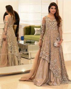 Shiza Hassan, Pakistani couture - Women Dresses for Every Age! Pakistani Couture, Pakistani Bridal Wear, Pakistani Wedding Dresses, Pakistani Dress Design, Pakistani Outfits, Indian Dresses, Bridal Lehenga, Pakistani Fashion 2017, Indian Couture