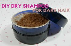 DIY dry shampoo dark hair: THE RECIPE: Mix 3 parts cocoa powder and 1 part cornstarch and/or baby powder in a small container. To darken the mixture a little bit more, add some cinnamon to the mix.