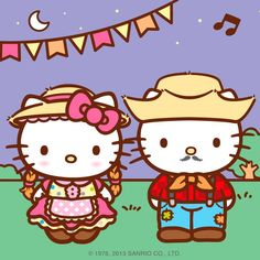 Hello Kitty e Daniel em Festas Juninas