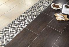 Bathroom porcelain stoneware floor tile: wood look - MODUS - Alfalux