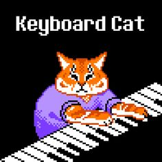 pixel art Keyboard Cat by ryanthemovieman piq