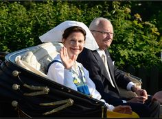 King Carl XVI Gustaf of Sweden and Queen Silvia of Sweden attend the National Day Celebrations at Skansen on 6 June 2013 in Stockholm