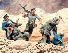 RED ARMY - marines Soviet assault on a German infantry position from 1941 to 1942 Military Art, Military History, Eastern Front Ww2, Ddr Museum, Military Drawings, German Soldiers Ww2, Hand To Hand Combat, War Comics, Soviet Art