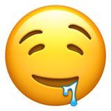 🤤 Drooling Face Emoji on Apple iOS Ios Emoji, Emoji Stickers Iphone, Emoji Wallpaper Iphone, Cute Emoji Wallpaper, Images Emoji, Emoji Pictures, Emojis Png, Apple Emojis, Whatsapp Png