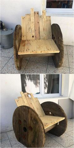 Rough and yet simple! Whatever you call it, but this pallet chair idea with the tremendous looking. It has been all the more put together with the accompanying taste of the wood durable finishing that is resting on the whole on top of the chair portions.