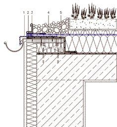 Zelené střechy mají vnovém tisíciletí zelenou 2 Window Detail, Roof Detail, Civil Engineering Construction, Detail Architecture, Plan Drawing, Micro House, Detailed Drawings, Rooftop, How To Plan