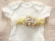 Shop for baby on Etsy, the place to express your creativity through the buying and selling of handmade and vintage goods. Flower Belt, Baby Onesie, Truffles, Cherry, Trending Outfits, Couture, Unique Jewelry, Handmade Gifts, Etsy
