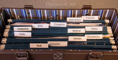 Organize your kitchen counter papers with a cute file tote!  Taxes related papers are in this file.