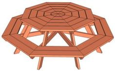Build Yourself a Picnic Table with One of These 13 Free Plans: Free Plan for an Octagon Picnic Table by Ana White
