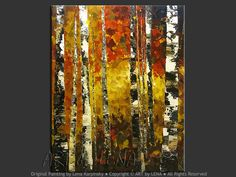 "by Lena K, Forest painting ""Birch Grove"""