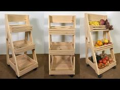 Kitchen Furniture, Furniture Decor, Furniture Design, Wooden Retaining Wall, Fruit And Vegetable Storage, Kitchen Organization Pantry, Home Office Decor, Home Decor, Wood Crates