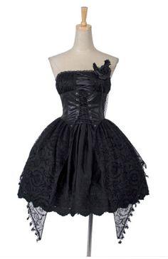 lolita goth dress $70