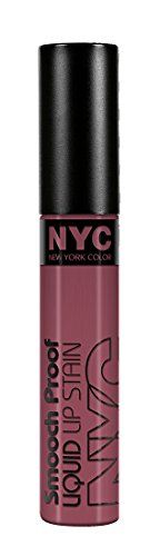 Best price on N.Y.C. New York Color Smooch Proof Liquid Lip Stain, On Everyone's Lips, 0.24 Fluid Ounce  See details here: http://bestmakeupopinion.com/product/n-y-c-new-york-color-smooch-proof-liquid-lip-stain-on-everyones-lips-0-24-fluid-ounce/    Truly a bargain for the inexpensive N.Y.C. New York Color Smooch Proof Liquid Lip Stain, On Everyone's Lips, 0.24 Fluid Ounce! Take a look at this low priced item, read customers' comments on N.Y.C. New York Color Smooch Proof Liquid Lip Stain…