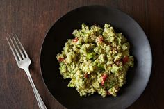 Guacamole Quinoa - turns out it works really well to just mash guac ingredients into quinoa! Use 2 cups cooked quinoa and omit the jalapeno and cumin for I-Burn.