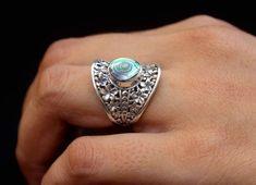 BAGUE BONHEUR, bague Joie, bague argent 925 femme, bague abalone, bague ethnique, bijoux faits main, bijoux ethniques, bague bleu verte