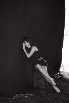 Helena Christensen by Peter Lindbergh for Italian Vogue, Sept. 2015.