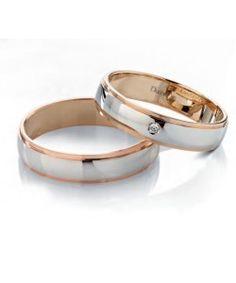 Fedi nuziali in oro bianco e rosa, collezione Vera | DonnaOro  #matrimonio #wedding #sposi #fedi #fedinuziali #nozze #oro #rings #weddingrings