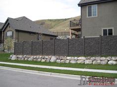 Simulated Stone Fence Simtek Fence Direct EcoStone