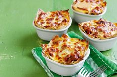 Lasagne doesn't have to be time-consuming. These individual pots use shortcuts so they are ready in just 45 minutes and taste divine!