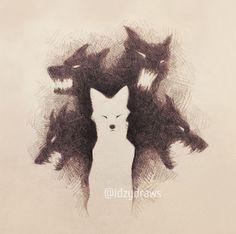 Inner demons scream for sustenance, but it's not… – – Art Sketches Dark Drawings, Animal Drawings, Cool Drawings, Dark Fantasy Art, Dark Art, Arte Obscura, Arte Horror, Furry Art, Art Sketches
