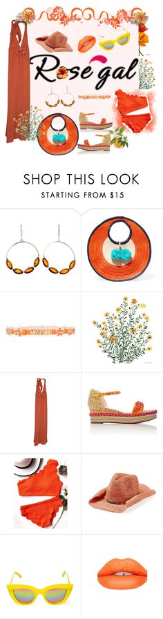 """🌞You are my lover, not my rival🌞"" by maijah ❤ liked on Polyvore featuring Be-Jewelled, Sophie Anderson, Moschino, Alice by Temperley, Christian Louboutin, Flora Bella, Quay, Sugarpill, orange and scalloped"