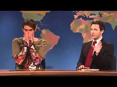"""SNL's Weekend Update with Seth Myers and """"Stefon""""...I laugh so hard I cry every time I see Stefon!"""
