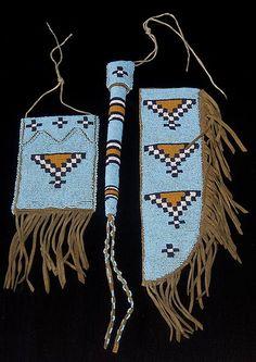 Strike-a-lite Bag, Awl Case, Knife Sheath - Blackfoot - circa 1910